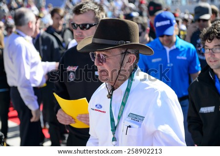 LAS VEGAS, NV - March 08: Car owner Jack Roush at the NASCAR Sprint Kobalt 400 race at Las Vegas Motor Speedway on March 08, 2015 - stock photo