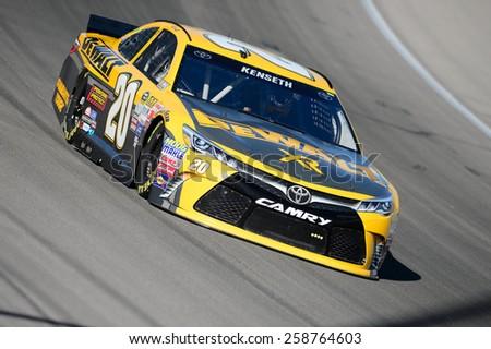 LAS VEGAS, NV - March 07: NASCAR Sprint Kobalt 400 practice at Las Vegas Motor Speedway in Las Vegas on March 07, 2015 - stock photo