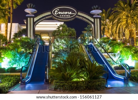 LAS VEGAS - SEP 15 : The Encore Hotel and casino on September 15 2013 in Las Vegas. The hotel has 2,716 rooms and opened in 2005. - stock photo
