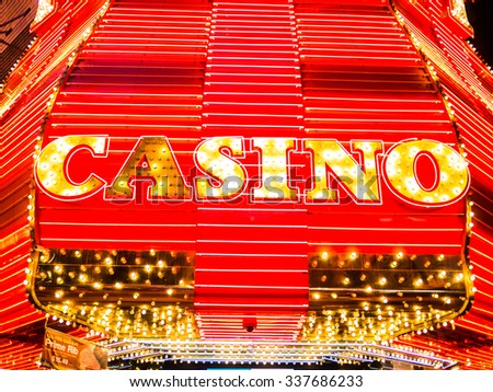 LAS VEGAS, USA - SEPTEMBER 09: Fremont Street on September 09, 2015 in Las Vegas, USA. It is an internationally renowned resort city known primarily for gambling, shopping, dining and nightlife. - stock photo