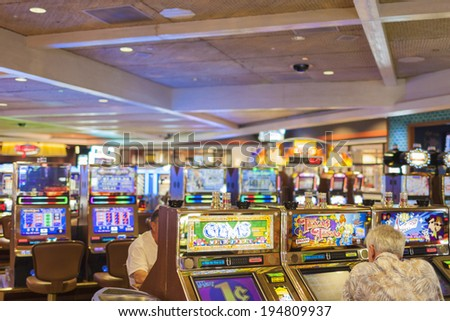 Las Vegas- USA, September, 30: People Playing in One of the Casinos in las Vegas City in  September, 30, 2013, United States - stock photo