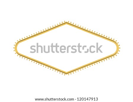 Las Vegas welcome sign light bulb diamond shape with center cut out. - stock photo