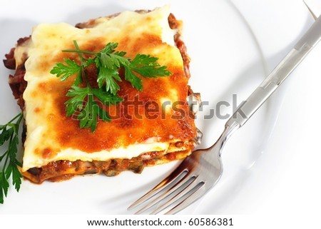 Lasagna - stock photo