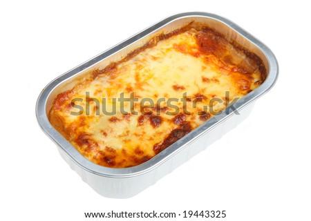 Lasagna convenience meal - stock photo
