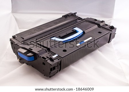 laser cartridge with blue handle close up view - stock photo