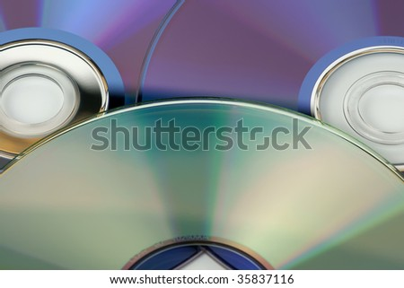 Laser disks - stock photo