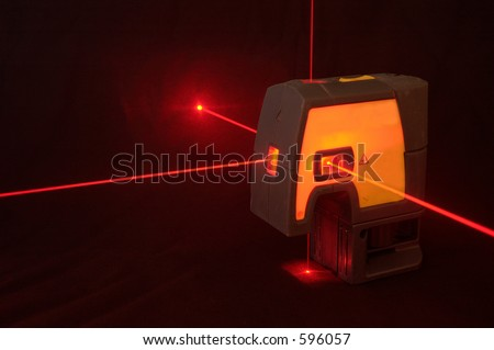 Laser level - stock photo