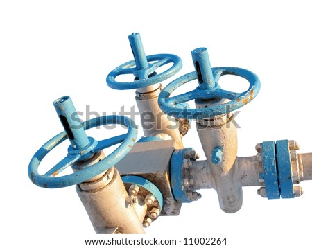 Latch on a oil well. Oil industry. Construction and mechanism in work. - stock photo