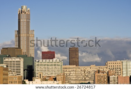 Late afternoon Chicago, IL. - stock photo