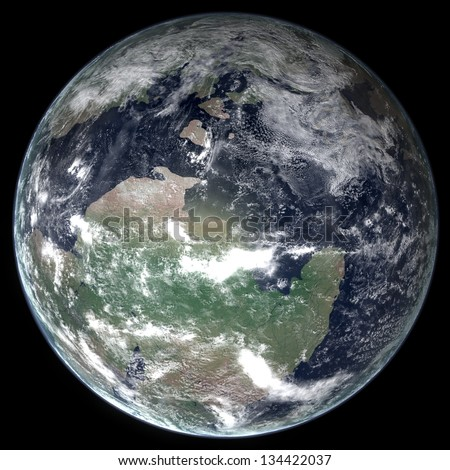 Late Cambrian Earth - stock photo