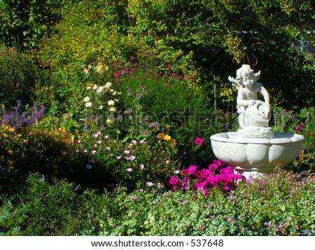 Late Summer Garden - stock photo