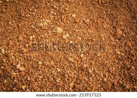 laterite soil - stock photo