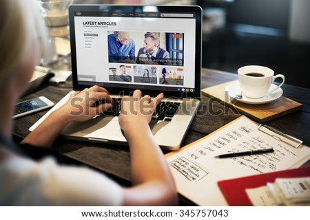 Latest Article Webpage Advertising Announcement Concept - stock photo