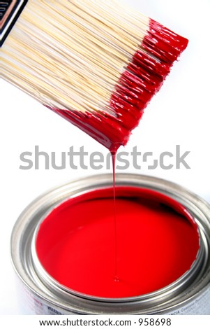 Latex House Paint - Home Improvement - stock photo