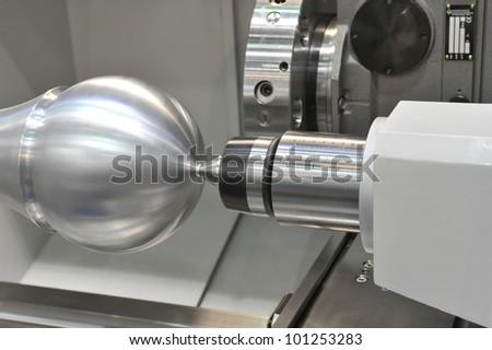 lathe - stock photo