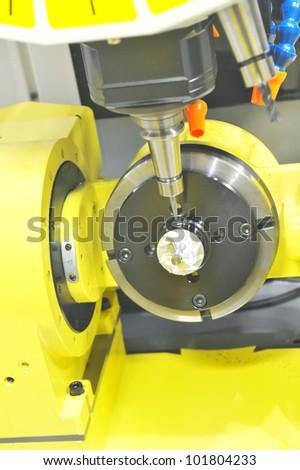 Lathe, CNC milling - stock photo