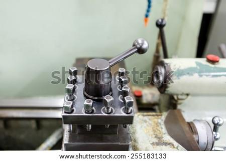 Lathe, CNC milling machine  - stock photo