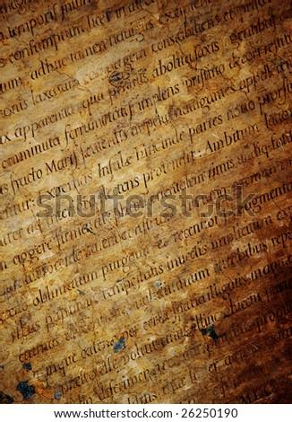 Latin letters texture - stock photo