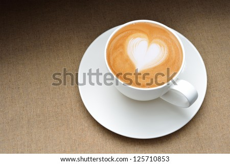 LATTE ART - stock photo