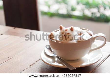 Latte' Art Coffee - stock photo