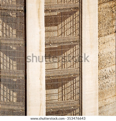 Lattice of Intake tower at Hoover Dam  - stock photo