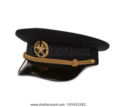 Latvian customs officers hat - stock photo