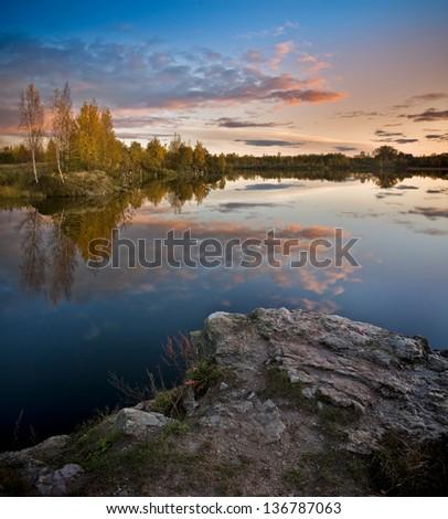 latvian landscape - stock photo