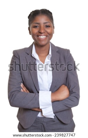 Laughing african businesswoman - stock photo