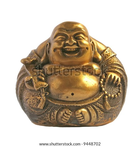 Laughing Buddha in a Sphere Shape - stock photo