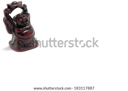 Laughing Buddha isolated on white background - stock photo