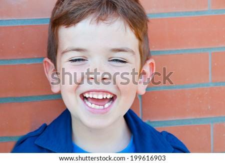 Laughing child - stock photo