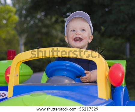 Laughing kid - stock photo