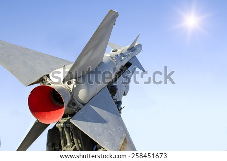 launch rockets into the sky - stock photo