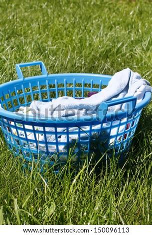 Laundry basket - stock photo