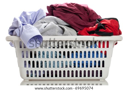 Laundry in a basket - stock photo