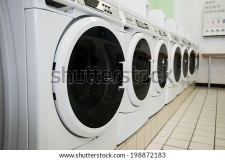 laundry machines - stock photo