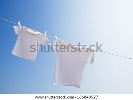 Laundry on day when it cleared up  - stock photo