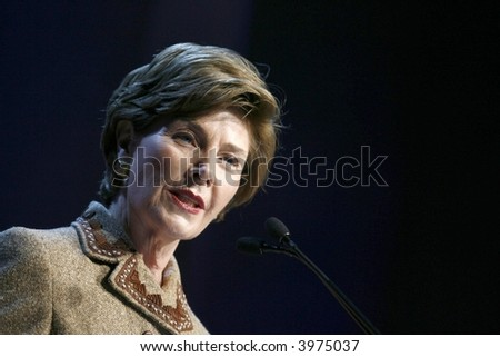 Laura Bush - stock photo