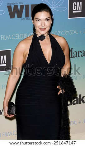 Laura Harring attends Women In Film Presents The 2007 Crystal and Lucy Awards held at the Beverly Hilton Hotel in Beverly Hills, California, California, on June 14, 2006.  - stock photo