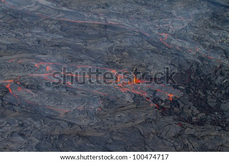 lava - stock photo