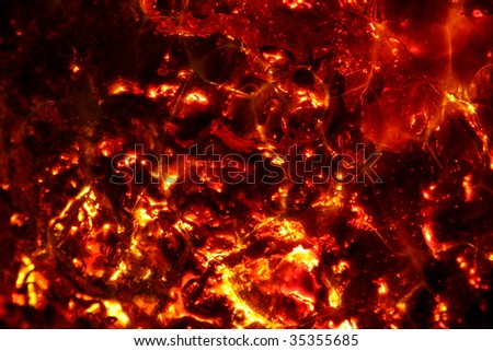lava background - stock photo