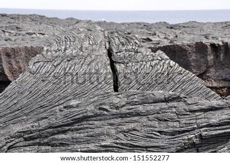 Lava field, Hawaii Volcanoes National Park (USA) - stock photo