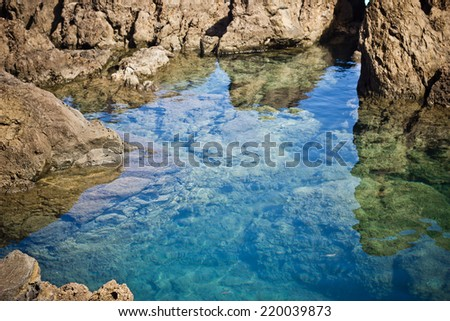 Lava pools Porto Moniz Madeira Portugal. - stock photo