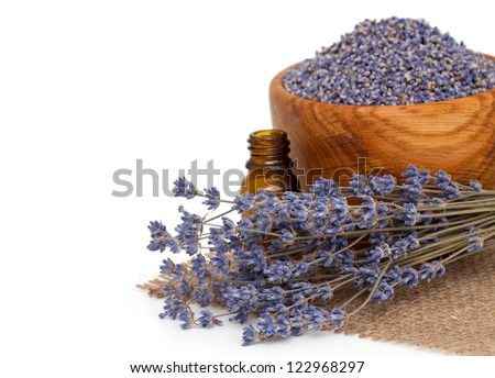 lavender essential oil - stock photo