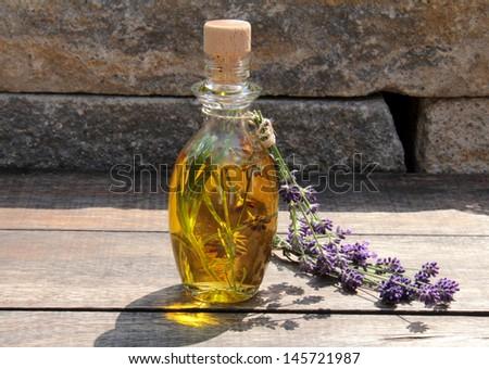 lavender oil - stock photo