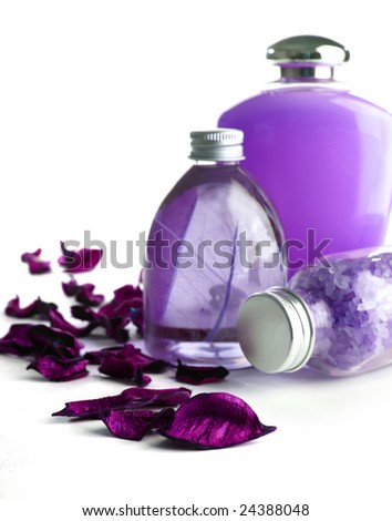 lavender SPA cosmetics - stock photo