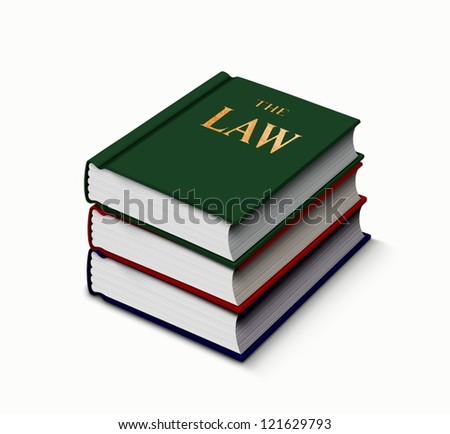 Law books stack up - stock photo