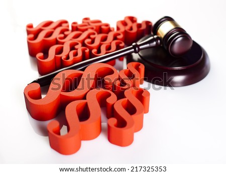 Law concept and paragraph - stock photo