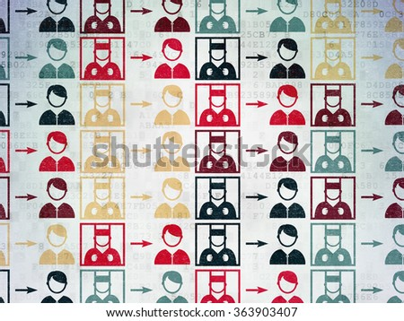 Law concept: Criminal Freed icons on Digital Paper background - stock photo