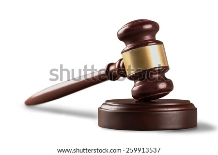 Law, gavel, hammer. - stock photo